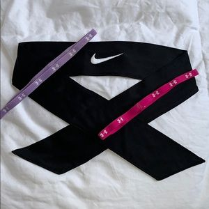 Nike x Under Armour Headband Bundle